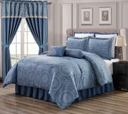 Clearance Sale Chezmoi Collection 8-Piece Jacquard Comforter