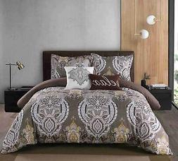 Ancona Printed Pattern Soft Premium Quality Comforter Set -C