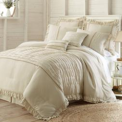 Amrapur Overseas Antonella 8-Piece Pleated Comforter Set, Qu