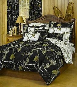 Realtree AP Black Queen Comforter/Sham Set