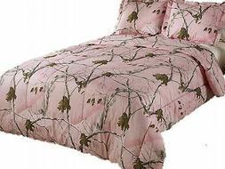 Realtree AP Mini Comforter Set, Queen, Pink, Camo New