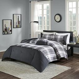 Comfort Spaces Asher Comforter Set - 4 Piece - Black - Multi