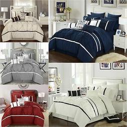 Chic Home Ashville 16 Piece Comforter Set Floral Pinch Pleat