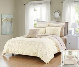 Chic Home 10 Piece Assent Ruffled pinch pleat border with pi