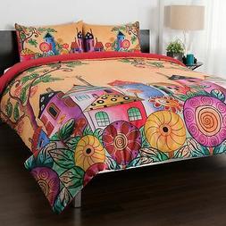 "Anuschka at Home ""Village of Dreams"" 100% Cotton 3-Piece Com"