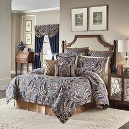 Croscill Aurelio 4 Piece California King Comforter Set, Blue
