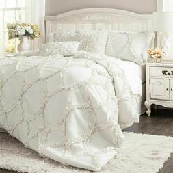 Avon 3-pc. Luxury Lush White Embroidered Ruffle Boho Comfort