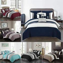 Chic Home Ayelet 10 Piece Color Block Comforter Set Ruffled