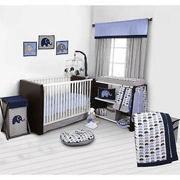 Baby Bedding 10 Piece Crib Set Boy Girl Nursery Blue Gray El