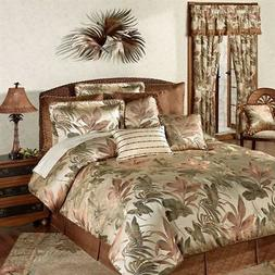 Bali Palm Comforter Set and Accessories Beige