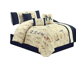 HGS 7-Pc Bamboo Forest Auspicious Kanji Character Comforter