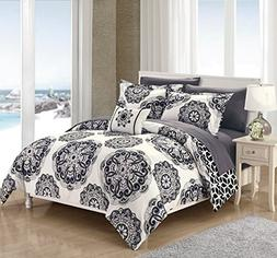 Chic Home Barcelona 8 Piece Reversible Comforter Set Microfi