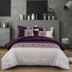 Beautiful Floral Soft Warm Comforter Quilt Set King Queen Si