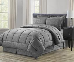 Sweet Home Collection 8 Piece Bed In A Bag with Vine Comfort