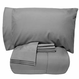 Sweet Home Collection Bed-In-A-Bag Solid Color Comforter & S