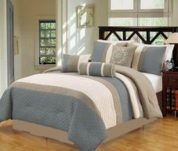 bed in bag luxury striped 7 piece