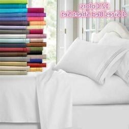 Bed Sheet Set 3/4 Piece Comfort Ultra Soft 30CM Deep Pocket