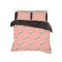 iPrint Comfortable Bed Sheet Set with Bedding Pillow Case Co
