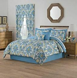 Traditions by Waverly Bedazzle Blue Sky King 6 Piece Comfort