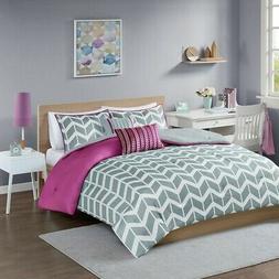 Bedding Queen Full Teens Girls Comforter Sets Grey Purple Be