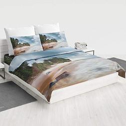 MASCULINTY 4 Piece Bedding Set ,Lighthouse Decor,Children Be