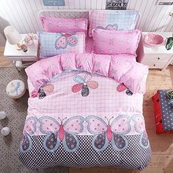 Nova 4pcs Bedding Set No Comforter Duvet Cover Set 100% Comb