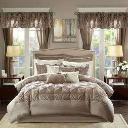 Bedding Bedroom Comforter Set 24Pc Room In A Bag Curtains ...