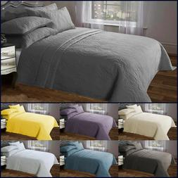 Bedspread Throws Pillow Sham Polyester Luxury Comforter Set