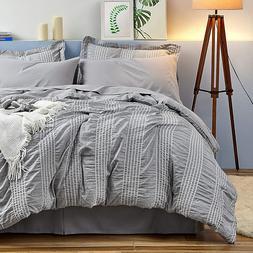 Bedsure Queen King Comforter Set 8 Piece Bed in A Bag Stripe