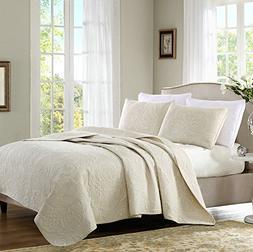 Brandream Beige Vintage Paisley Comforter Set King Size Bed