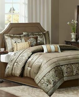 Madison Park Bellagio Comforter Set, Cal King, Brown/Gold