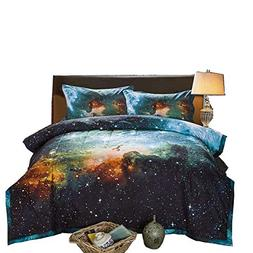 black blue galaxy bedding sets