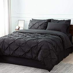 Bedsure Black Comforter Set Black Queen Comforter Set Bed in