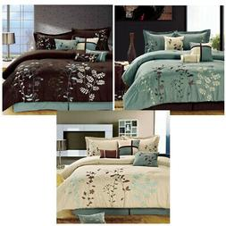 Chic Home Bliss Garden Comforter Bed In A Bag Set - 8 Piece