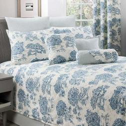 Blue & Ivory Toile Bedding Comforter Set & Add Ons French Co