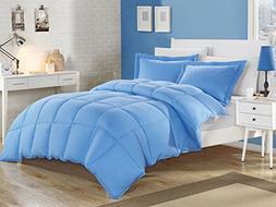 KingLinen Blue Down Alternative Comforter Set Twin
