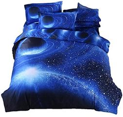 YOUSA Blue Planet Bedding Polyester Bedding Set for Boys and
