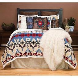 "Blue River Plush Comforter Bedding Set, King Home "" Kitchen"