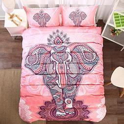 Bohemia Ethnic Duvet Cover Set - Elephant Pattern Polyester