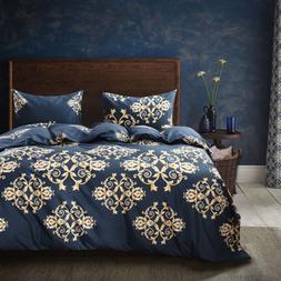 Bohemia Flower Printed Comforter Duvet Cover Set Covers Bedd