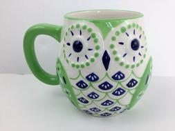 Cutie Pie & Cupcake Bohemian OWL Large Coffee Tea Mug textur