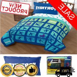 Fortnite Bedding Set For Boys Twin Full Comforter Sham Bed R
