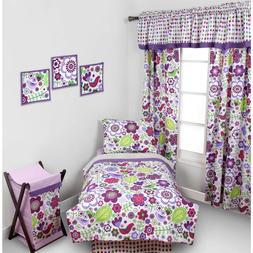 Botanical Floral 4Pcs Toddler Bed Soft Bedding set comforter