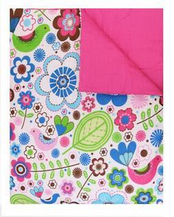 Bacati - Botanical Sanctuary Pink Twin Comforter Set. Huge S