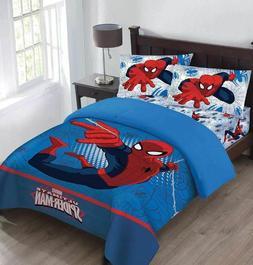 Boy Full Size Comforter Set Spiderman Bedding Kids Teens 4 P