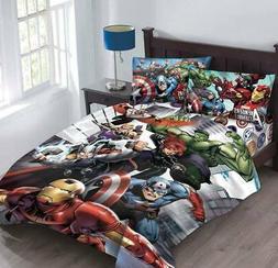 Boys Comic MARVEL AVENGERS Superhero Twin or Full Size Beddi