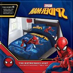 "Boys Marvel Superhero Comforter Set - Spiderman ""Spider-Tech"