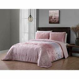 "Bradshaw Velvet Ombre Comforter Set Queen Blush Home "" Kitch"