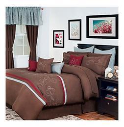 Bedford Home 24-Piece Briella Bed-in-a-Bag Bedroom Set, Quee