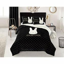 Bunny Dreams Comforter Set, Full/Queen, Black Home &amp Kitc